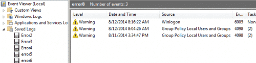 Powershell Event Log
